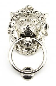 From the Anvil Polished Nickel Lions Head Door Knocker | 91997