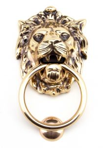 From the Anvil Polished Bronze Lions Head Door Knocker | 91999