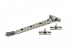 """From the Anvil (8"""""""") Pewter Brompton Casement Window Stay 