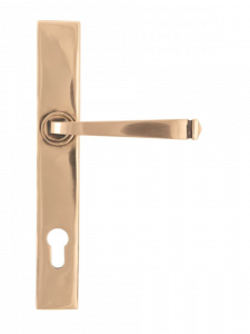 Set From the Anvil Polished Bronze Avon Lever Espag. Euro Lock Furniture | 45791