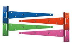5 x Pairs 600mm Coloured Strong Tee Hinge with various finishes