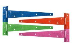 5 x Pairs 450mm Coloured Medium Tee Hinge with various finishes