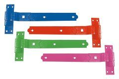 Pair 450mm Coloured Cranked Hook & Band Hinge with various finishes