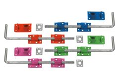 Pack 5 x Coloured 450mm Drop Bolts