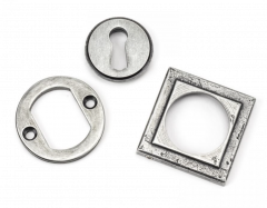 From the Anvil Pewter Standard Square Rose Escutcheon | 45706