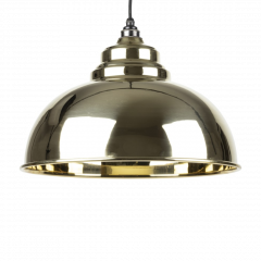 From the Anvil Smooth Brass Harborne Pendant | 49522
