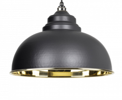 From the Anvil Black & Smooth Brass Harborne Pendant | 49522B