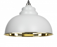 From the Anvil Smooth Brass Harborne Pendant | 49522LG