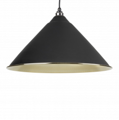 From the Anvil Black & Hammered Brass Hockley Pendant | 49523B