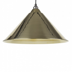 From the Anvil Smooth Brass Hockley Pendant | 49524