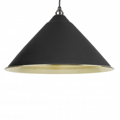From the Anvil Black & Smooth Brass Hockley Pendant | 49524B