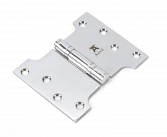 """Pair From the Anvil Polished Chrome 4x3x5"""" Parliament Hinge 