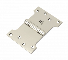 """Pair From the Anvil Polished Nickel 4x4x6"""" Parliament Hinge 