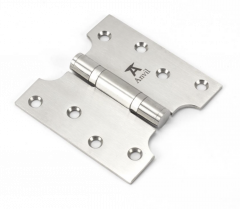 """Pair From the Anvil Satin Stainless Steel 4x2x4"""" Parliament Hinge 