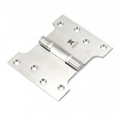 """Pair From the Anvil Satin Stainless Steel 4x3x5"""" Parliament Hinge 