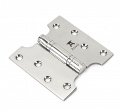 """Pair From the Anvil Polished Stainless Steel 4x2x4"""" Parliament Hinge 