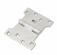 """Pair From the Anvil Polished Stainless Steel 4x3x5"""" Parliament Hinge 