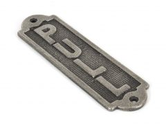 From the Anvil Antique Pewter PULL Sign | 83684