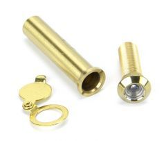From the Anvil Polished Brass Door Viewer | 92150