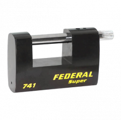 Federal FD741 100mm Rectangular Steel Padlock with keying options