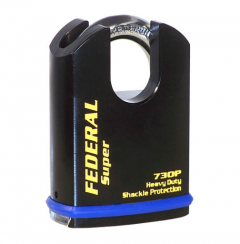 Federal 730P Sold Secure Silver CEN4 Protected Shoulder Padlock with keying options