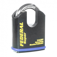 Federal 740P Sold Secure Gold CEN5 Dead Locking Protected Shoulder Padlock with keying options