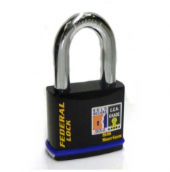 Federal 742 Sold Secure Gold CEN5 Deadlocking Padlock with 50mm shackle & keying options
