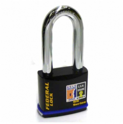 Federal 743 Sold Secure Gold CEN5 Deadlocking Padlock with 76mm shackle & keying options