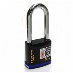 Federal 733 Sold Secure Silver CEN4 Long Shackle Padlock with keying options