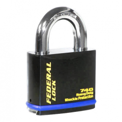 Federal 740 Sold Secure Gold CEN5 Dead Locking Padlock with keying options