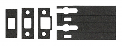 60 Minute Graphite Intumescent Fire Seals Kit to suit Zoo Latch