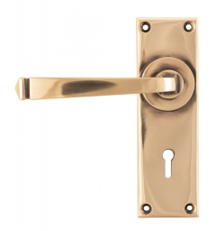 Set From the Anvil Polished Bronze Avon Lever Lock Furniture   45787