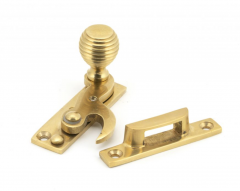 From the Anvil Polished Brass Beehive Hook Fastener | 45935