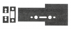 30 Minute Graphite Intumescent Fire Seals Kit to suit ZUKFL Flat Latch