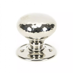 From the Anvil Set Polished Nickel Hammered Mortice / Rim Knob | 46032
