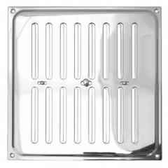 Hit and Miss Air Vent 242x242mm Polished Chrome | HM6CP