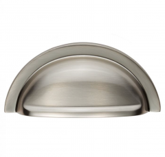 Satin Nickel 76mm Oxford Cup Pull | FTD558SN