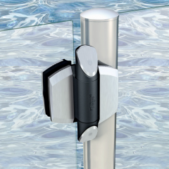 D&D TruClose Polished Stainless Steel Vizage Hinge (Zirconium Trims) | DD-TCAV1PSS