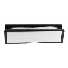 300x70mm Polished Chrome Intumescent Letter Box Assembly