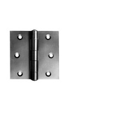 Pairs 75mm Self Colour Steel Strong Butt Hinges