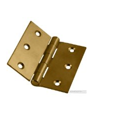 Pairs 90mm Electro Brassed Strong Butt Hinge