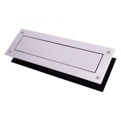 330 x 110mm Marine Grade 316 Polished Stainless Steel Letter Plate Kit | LP400
