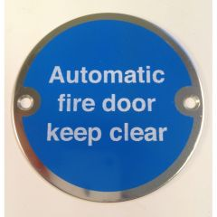 Polished Stainless Steel 76mm dia. Circular Automatic Fire Door