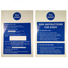 200 x 300mm Reversible Fire Action / Staff Instruction Sign