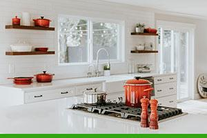 The ideal hardware for kitchen cabinets and shelves