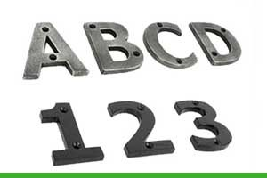How to install house numbers