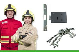 What are fire brigade locks and keys?