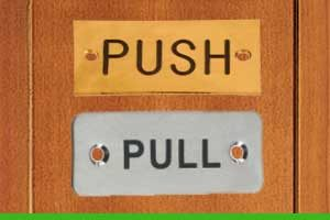 How to install a push sign