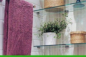 How to install glass shelves