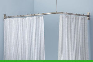 How to fit a shower curtain rail
